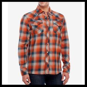 True Religion Western Pearl Snap Flannel Shirt